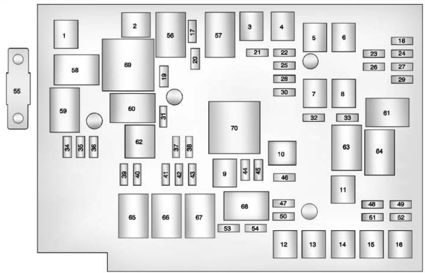 chevrolet equinox mk2 (2010 - 2015) - fuse box diagram ... 2005 chevy equinox fuse box diagram chevy equinox fuse box
