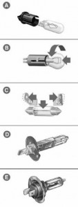 Lancia Lybra - żarowki