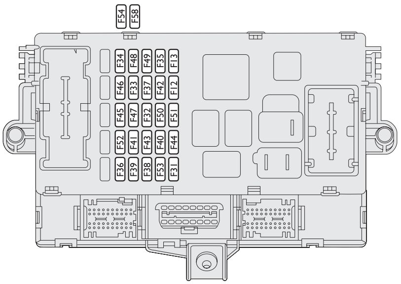 Lancia Musa Fl  2007 - 2012  - Fuse Box Diagram