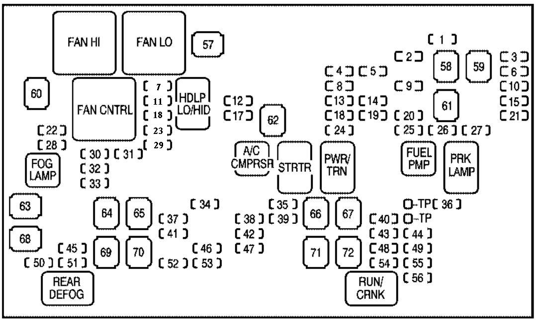 Cdy 2011 Chevrolet Silverado Fuse Diagram Zip Download