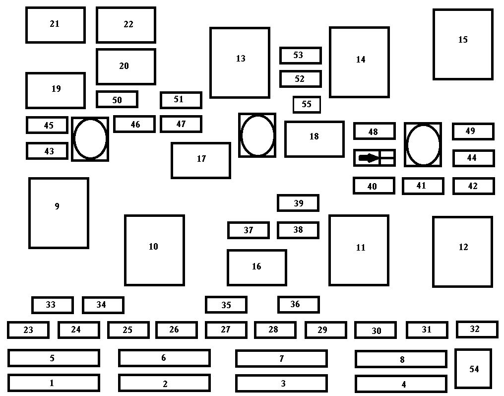 Chevrolet Malibu  1997 - 1999  - Fuse Box Diagram