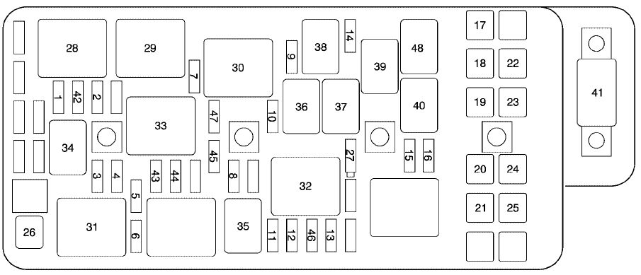 Chevrolet malibu mk6 fuse box engine compartment 2005 malibu rear fuse box diagram wiring diagrams for diy car 2013 chevy malibu fuse box at aneh.co