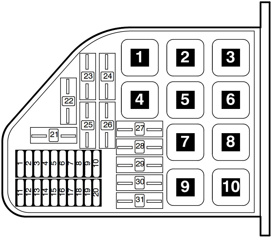 volkswagen phaeton  2002 - 2006  - fuse box diagram