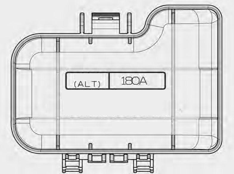 Kia Cadenza  2014 - 2015  - Fuse Box Diagram
