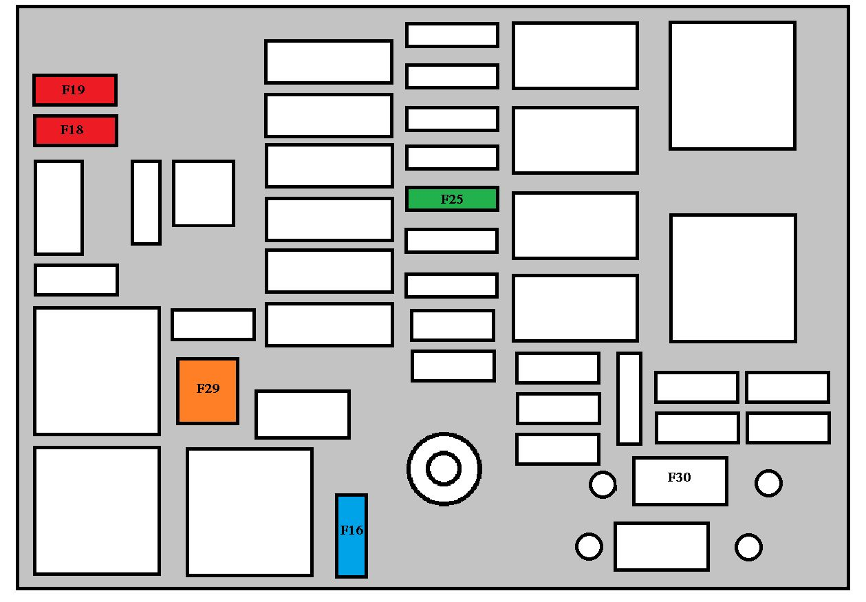 peugeot 208  from 2012  - fuse box diagram