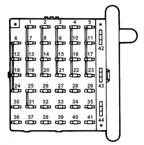 ford e series e 350 e350 1997 fuse box diagram auto. Black Bedroom Furniture Sets. Home Design Ideas