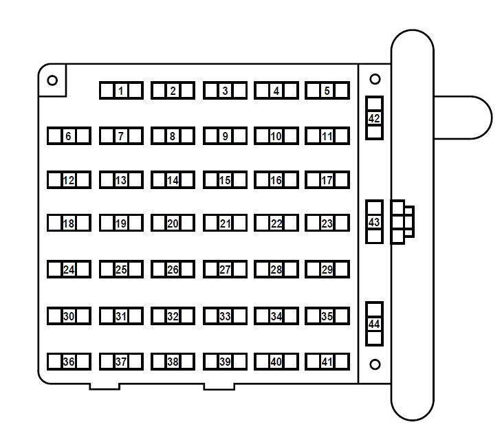ford e-series e-150 e150 e 150 (1998 - 2001) – fuse box ... 2001 ford e150 fuse box diagram
