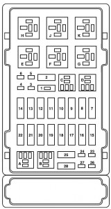 Ford e series e150 e150 fuse box power distribution box 2004 160x300 ford e series e 150 e150 e 150 (2004) fuse box diagram auto genius 2004 f350 fuse panel diagram at crackthecode.co
