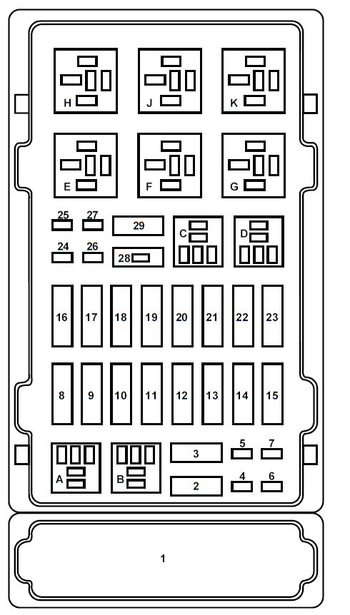 ford e series e 150 e150 e 150 1998 2001 fuse box. Black Bedroom Furniture Sets. Home Design Ideas