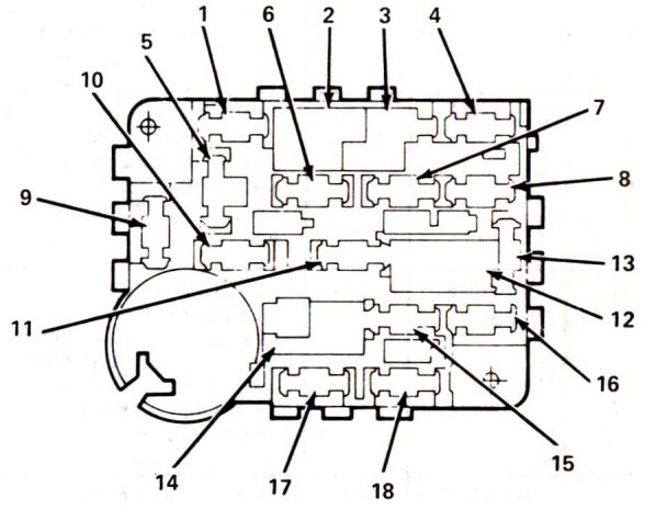 Lincoln Mark Vii  1984 - 1987  - Fuse Box Diagram