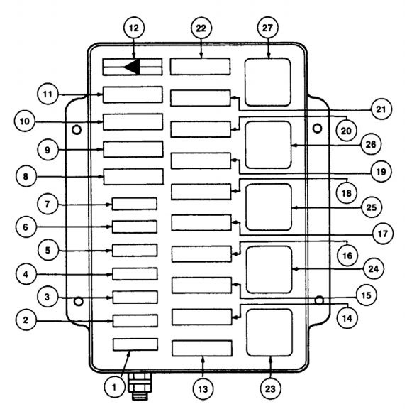 Lincoln Mark VIII 1993 1995 fuse box diagram – Lincoln 98 Mark 8 Fuse Diagram