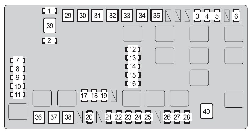 Toyota 4runner  2009  - Fuse Box Diagram