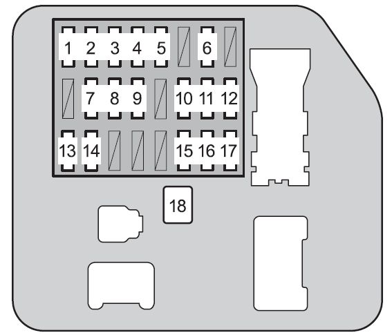toyota 4runner fifth generation n280 2009 fuse box diagram toyota 4runner fifth generation fuse box instrument panel