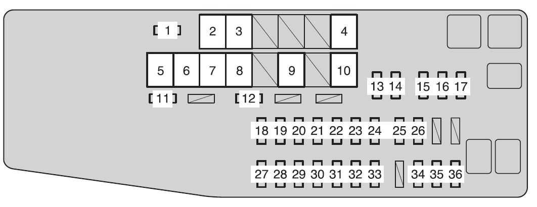toyota avalon from 2012 fuse box diagram auto genius. Black Bedroom Furniture Sets. Home Design Ideas