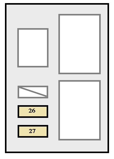 Toyota Avalon  2000 - 2002  - Fuse Box Diagram