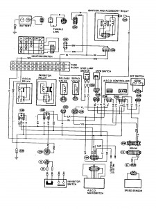 datsun 200sx (1980) - wire diagram - automatic speed ... 1996 200sx wiring diagrams nissan 200sx wiring diagram
