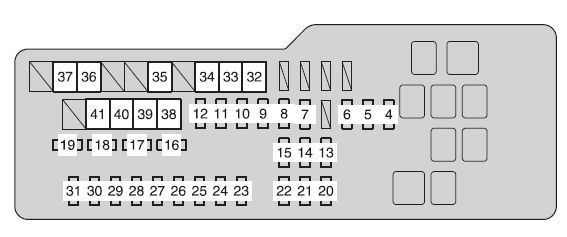 Toyota Camry Hybrid  From 2012  - Fuse Box Diagram