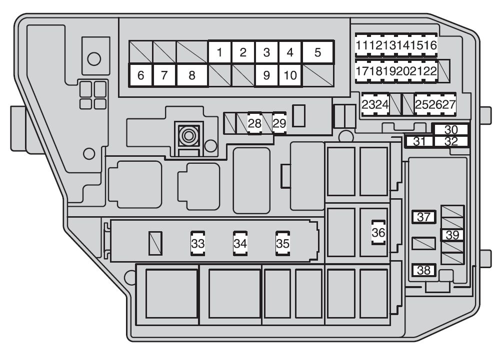 toyota corolla (2009 2012) fuse box diagram auto genius Toyota Corolla Fuse Box Location toyota corolla (2009 \u2013 2012) \u2013 fuse box diagram