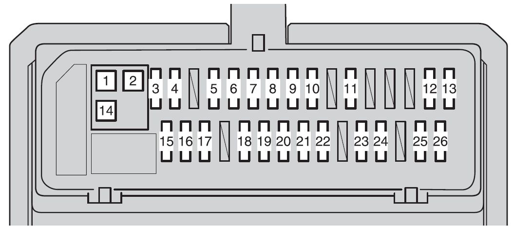 toyota corolla  2009 - 2012  - fuse box diagram