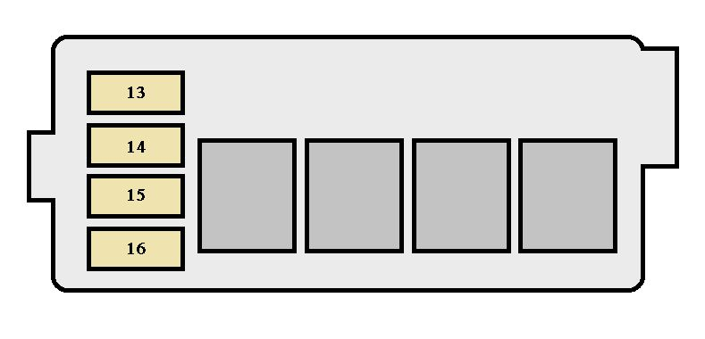 Toyota Corolla  1998 - 2002  - Fuse Box Diagram