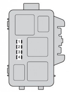 Toyota Highlander Hybrid - fuse box - engine compartment (type B)