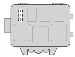 Toyota Highlander - Hybrid - fuse box - engine compartment (type B)