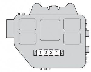 Toyota Highlander Hybrid - fuse box - engine compartment (type C)