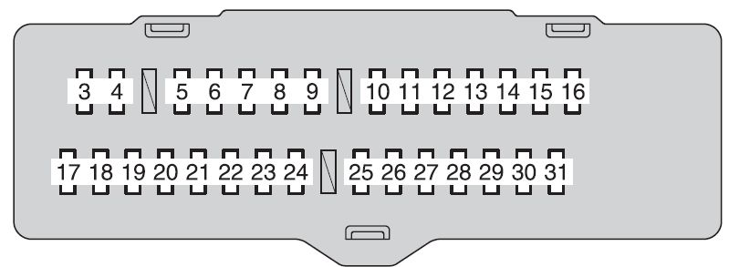 Toyota Highlander Hybrid  2009 - 2010  - Fuse Box Diagram