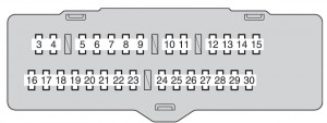 Toyota Highlander Hybrid - fuse box - instrument panel (fuse block)