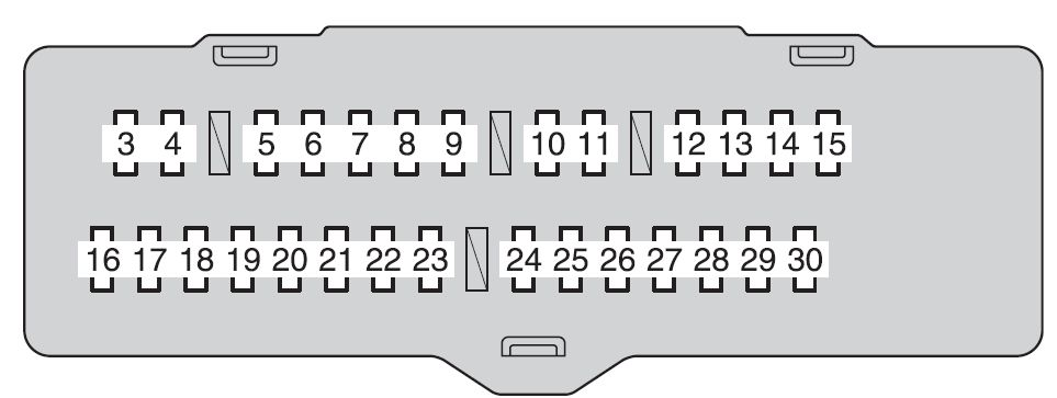 Toyota highlander hybrid fuse box instrument panel fuse block toyota highlander hybrid (2008) fuse box diagram auto genius 2008 toyota highlander wiring diagram at creativeand.co