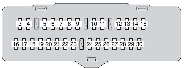 2007 toyota highlander right headlight fuse box   47