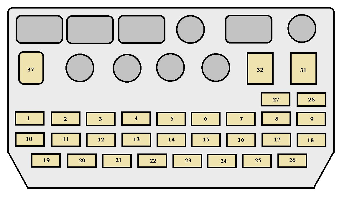 Toyota Previa First Generation mk1 (XR10, XR20; 1990–1999) - fuse box  diagram - Auto GeniusAuto Genius