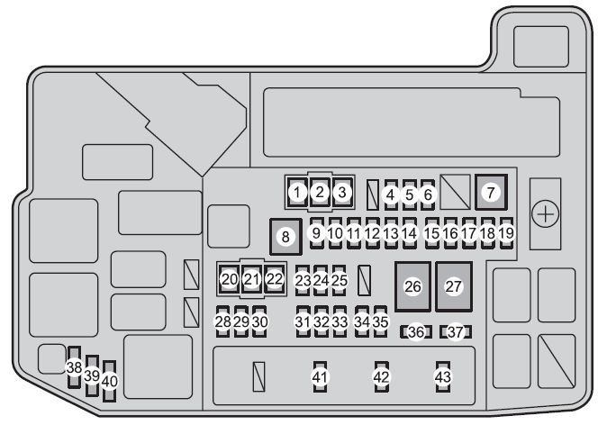 Toyota Prius   From 2012  - Fuse Box Diagram