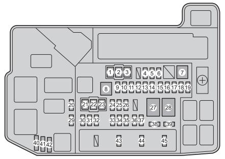 toyota prius plug-in hybrid (2011 - 2015) - fuse box ... toyota prius fuse box location #10
