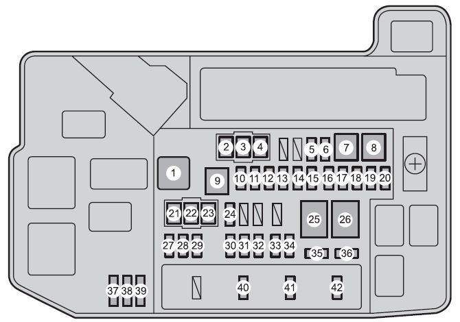 Toyota Prius Plug-in Hybrid  2010  - Fuse Box Diagram