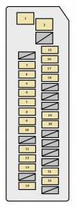 toyota prius xw20 2004 2007 fuse box diagram auto. Black Bedroom Furniture Sets. Home Design Ideas