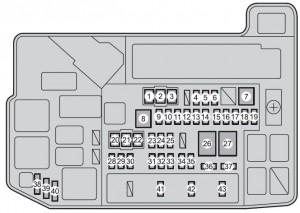 Toyota Prius V - fuse box - engine compartment