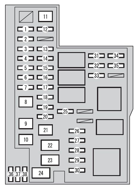 toyota rav4 (xa40; from 2015) fuse box diagram auto genius toyota rav4 fuse box diagram at Toyota Rav4 Fuse Box Diagram