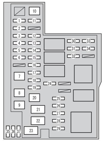 toyota rav4 xa30 2009 2012 fuse box diagram auto genius rh autogenius info Toyota Rav 4 Fuse Box Upper Cover 2000 RAV4 Fuse Box Location