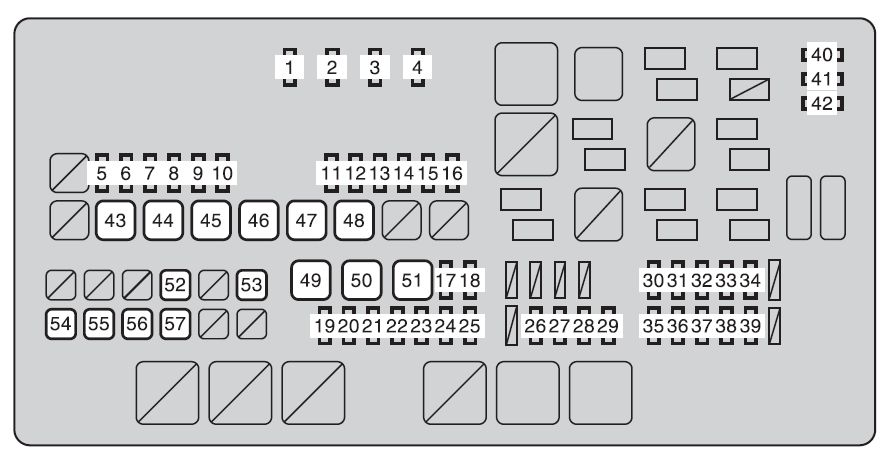 Toyota Sequoia  From 2012  - Fuse Box Diagram