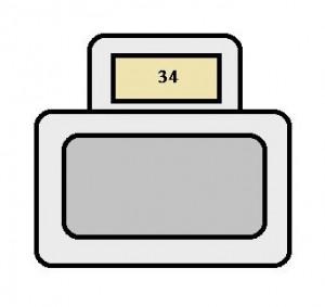 Toyota Sienna mk1 - fuse box - instrument panel