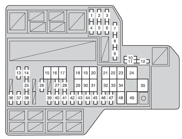 Toyota Sienna Third Generation Mk3 Xl30 2012 2013 Fuse Box Rhautogeniusinfo: Sienna Fuse Box Diagram At Gmaili.net