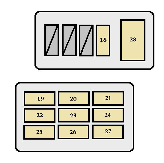 toyota tacoma (1998 – 2000) – fuse box diagram
