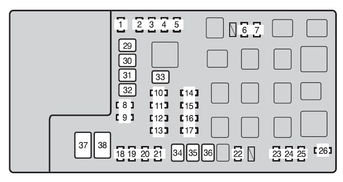 2013 tacoma fuse panel diagram