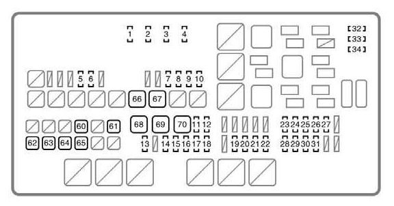 Toyota Tundra  2007 - 2008  - Fuse Box Diagram