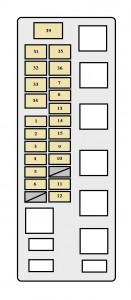 Toyota Tundra mk1 - fuse box - engine compartment (2UZ-FE engine)