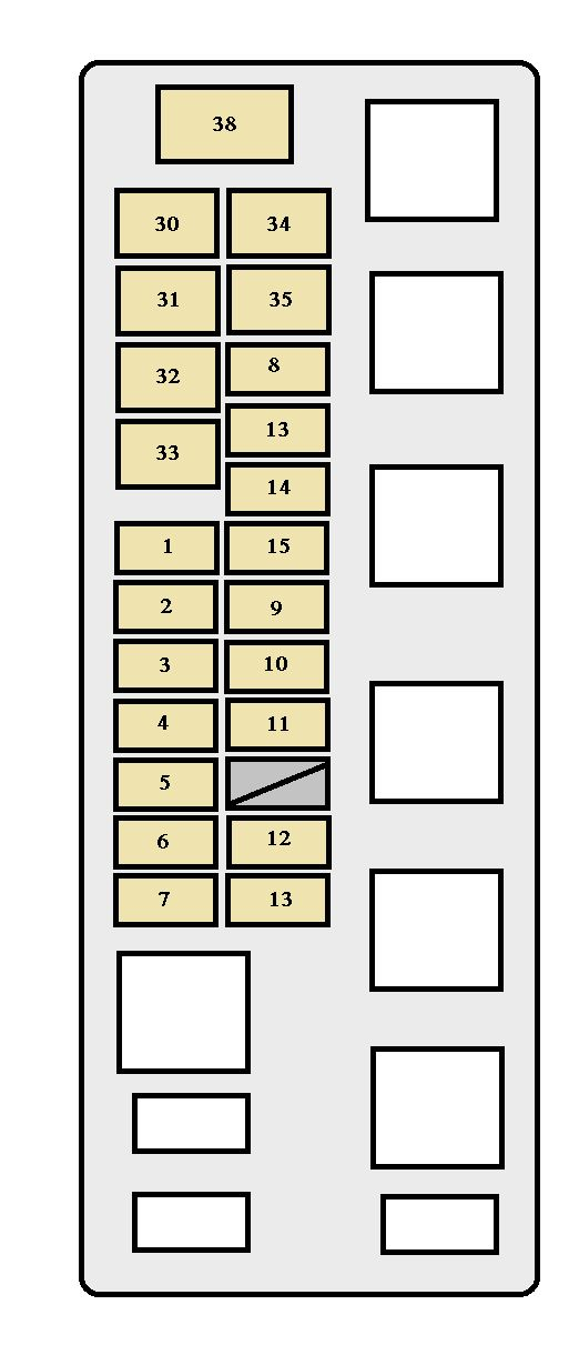toyota tundra  2001 - 2002  - fuse box diagram