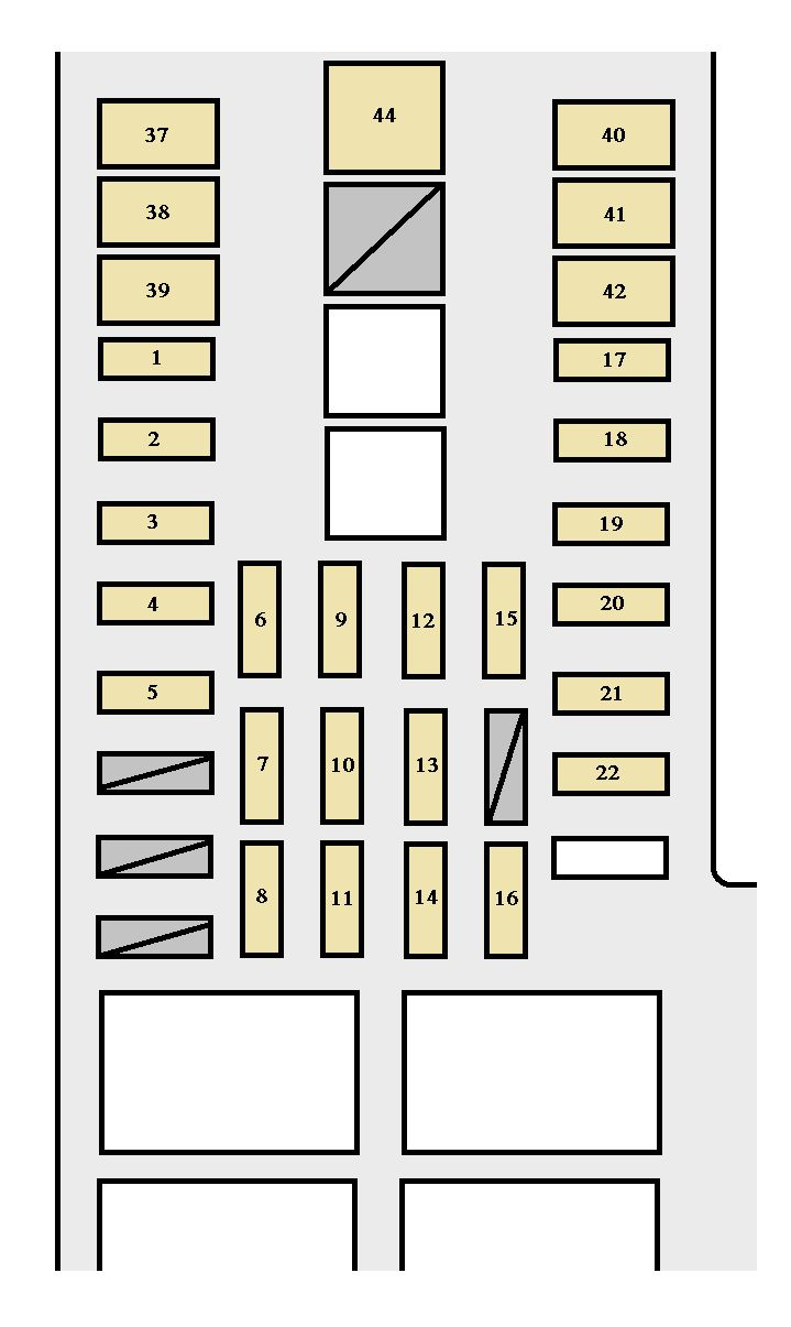 Toyota Tundra  2003 - 2004  - Fuse Box Diagram