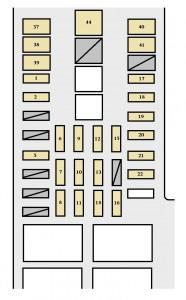 Toyota Tundra mk1 - fuse box - engine compartment (5VZ-FE)