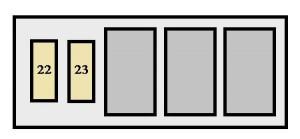 Toyota Celica - fuse box - engine compartment